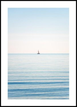 Horizon sailboat Póster
