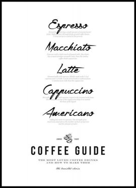 Coffee Guide Póster