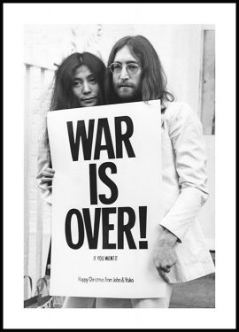 War is Over John Lennon Póster