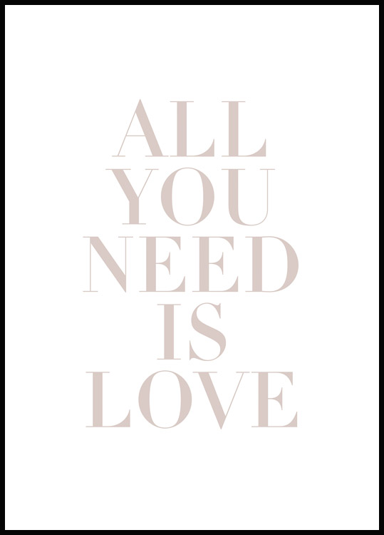 All You Need is Love Póster