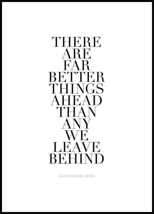 Far Better Things Ahead Póster