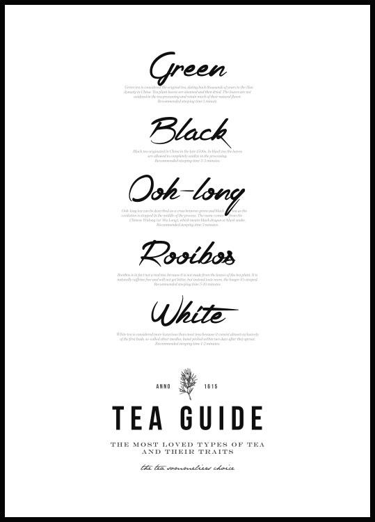 Tea Guide Póster