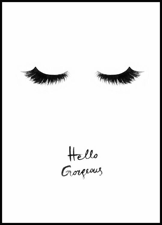 Hello Gorgeous Póster